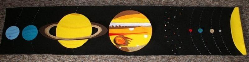 Układ słoneczny zfilcu - dzieło GadżetoMamy