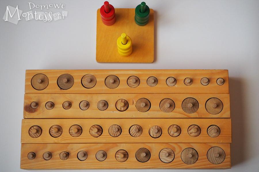 Cylindry Montessori ikorale donawlekania