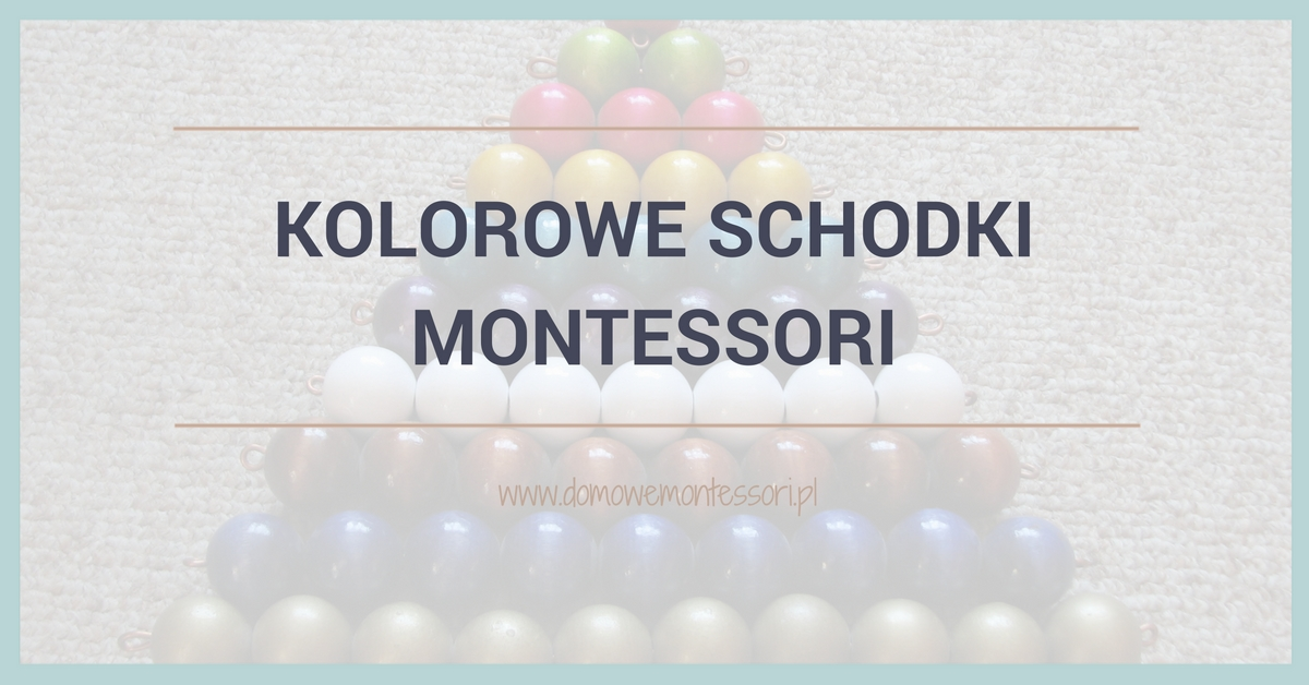 Kolorowe schodki Montessori