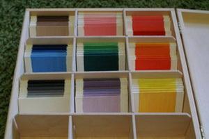 Kolorowe tabliczki Montessori produkcji Gadżetomamy