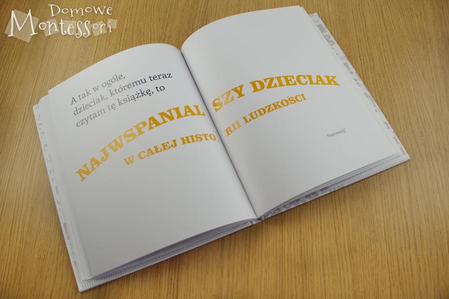 Książka bezobrazków - środek