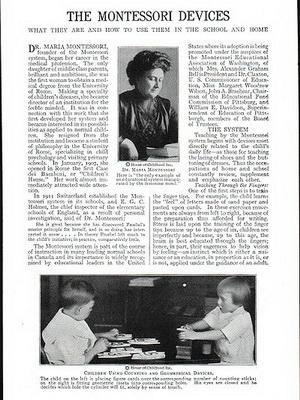 Książki poświęcone pedagogice Montessori