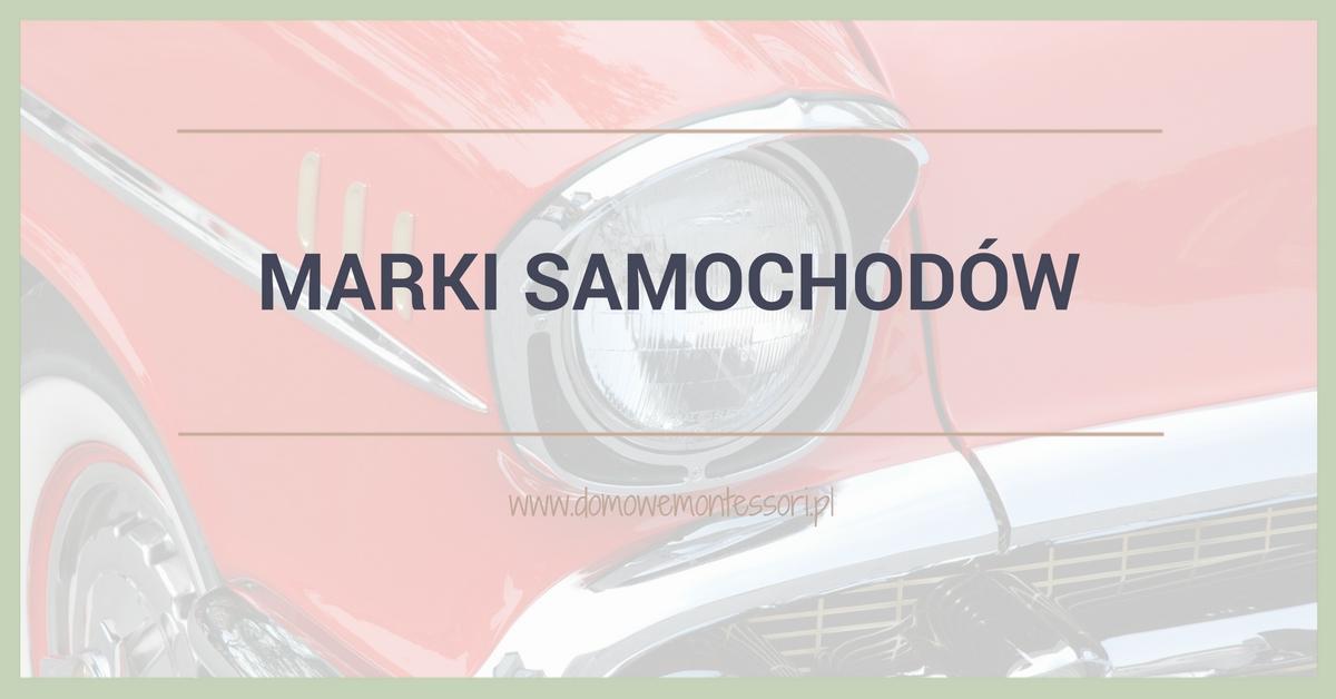 Marki samochodów – trójdzielne karty dodruku