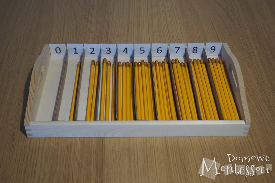Nasze wrzecionka Montessori z ołówków