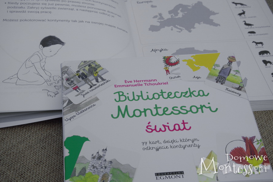 Książka z ćwiczeniami i karty Świat