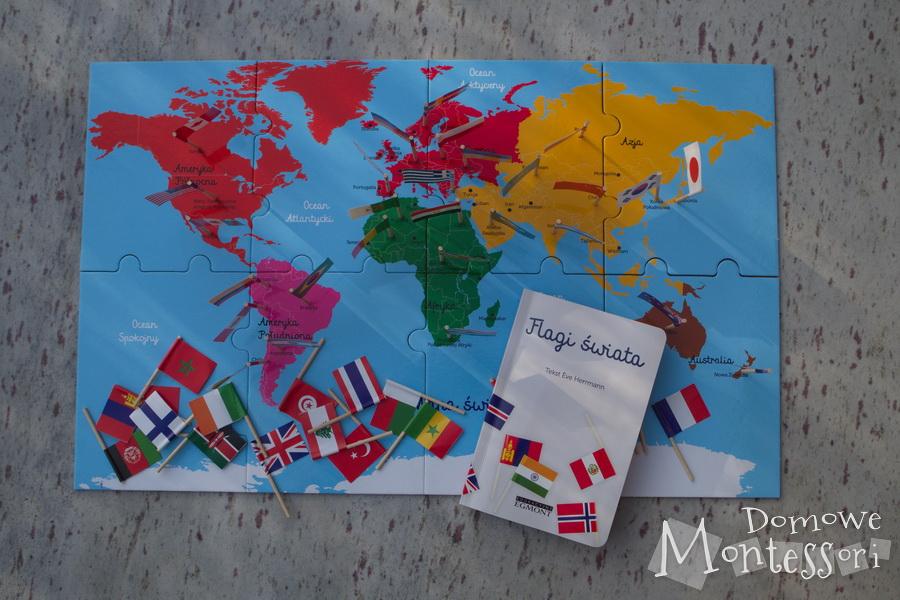 Flagi świata - zawartość pudełka