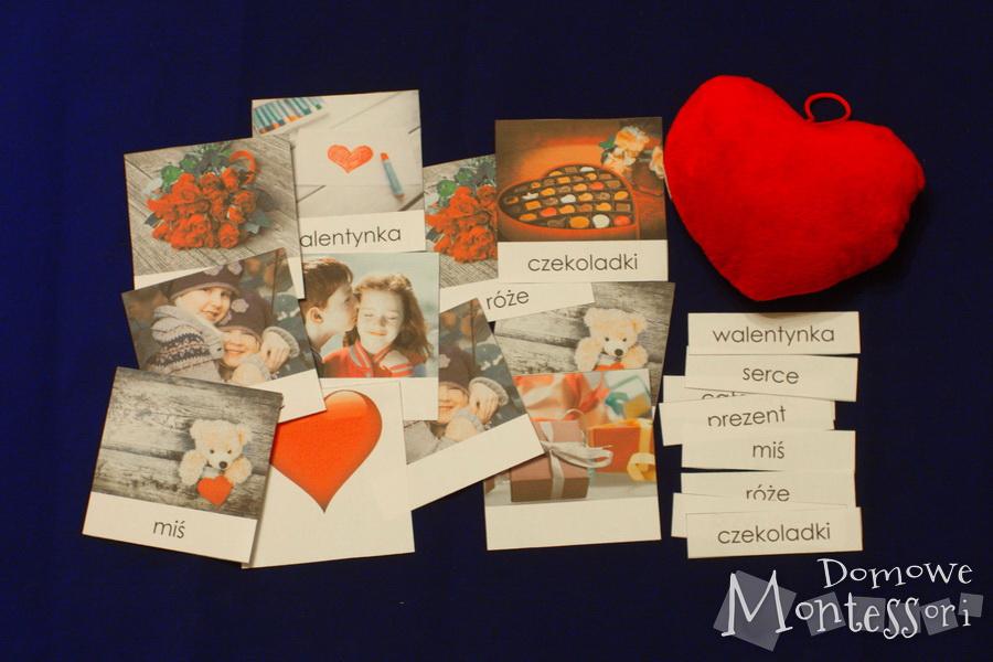 Karty trójdzielne naWalentynki