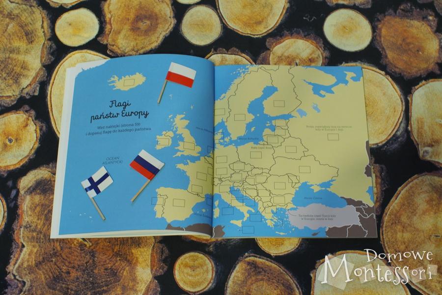 Mapa, na której można przykleić flagi